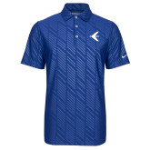 Nike Dri Fit Royal Embossed Polo-Embraer Bird