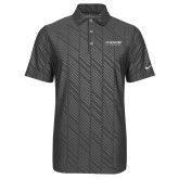 Nike Dri Fit Charcoal Embossed Polo-Phenom By Embraer