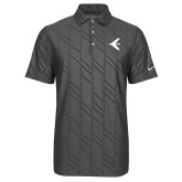 Nike Dri Fit Charcoal Embossed Polo-Embraer Bird