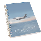 Clear 7 x 10 Spiral Journal Notebook-Legacy 450