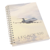 Clear 7 x 10 Spiral Journal Notebook-Legacy 500 Front View In Clouds