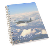 Clear 7 x 10 Spiral Journal Notebook-Lineage 1000 Over Clouds