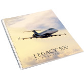 College Spiral Notebook w/Clear Coil-Legacy 500 Front View In Clouds