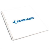 College Spiral Notebook w/Clear Coil-Embraer