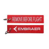 Red Remove Before Flight Key Tag-Remove Before Flight Key Tag Keychain
