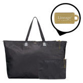 Tumi Just in Case Black Travel Duffel-Lineage By Embraer Engrave