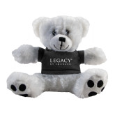 Plush Big Paw 8 1/2 inch White Bear w/Black Shirt-Legacy By Embraer