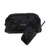 Urban Passage Wheeled Black Duffel-Lineage By Embraer