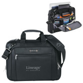 Kenneth Cole Black Vertical Checkpoint Friendly Messenger-Lineage By Embraer