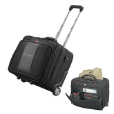 Wenger Transit Wheeled Black Compu Briefcase-Lineage By Embraer