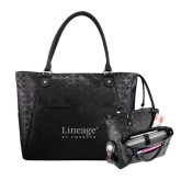Sophia Checkpoint Friendly Black Compu Tote-Lineage By Embraer