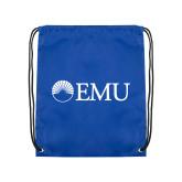 Royal Drawstring Backpack-Institutional Logos