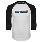 White/Black Raglan Baseball T Shirt-Institutional Logos
