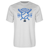 Performance White Tee-Baseball Design
