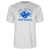 Performance White Tee-Softball Design
