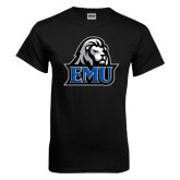 Black T Shirt-EMU w/ Lion Head