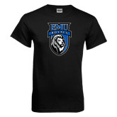 Black T Shirt-EMU Royals Shield