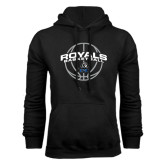 Black Fleece Hoodie-Royals Basketball Arched w/ Ball