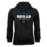 Black Fleece Hoodie-Royals Baseball Stacked w/ Seams