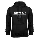 Black Fleece Hoodie-Softball Stencil