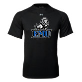 Under Armour Black Tech Tee-EMU w/ Full Lion