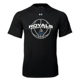 Under Armour Black Tech Tee-Royals Basketball Arched w/ Ball