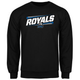 Black Fleece Crew-Royals Slanted w/ Logo