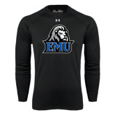 Under Armour Black Long Sleeve Tech Tee-EMU w/ Lion Head