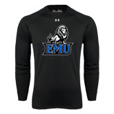 Under Armour Black Long Sleeve Tech Tee-EMU w/ Full Lion