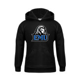 Youth Black Fleece Hoodie-EMU w/ Lion Head