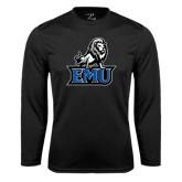 Performance Black Longsleeve Shirt-EMU w/ Full Lion