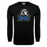 Black Long Sleeve TShirt-EMU w/ Lion Head