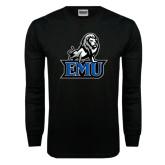 Black Long Sleeve TShirt-EMU w/ Full Lion