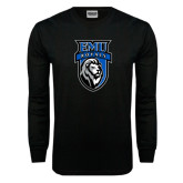 Black Long Sleeve TShirt-EMU Royals Shield