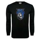 Black Long Sleeve TShirt-EMU Royals Shield