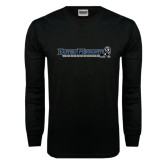 Black Long Sleeve TShirt-Eastern Mennonite University Flat
