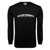Black Long Sleeve TShirt-Eastern Mennonite University Arched