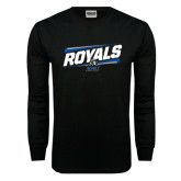 Black Long Sleeve TShirt-Royals Slanted w/ Logo