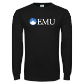 Black Long Sleeve T Shirt-Institutional Logos