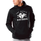 Under Armour Black Armour Fleece Hoodie-Softball Design