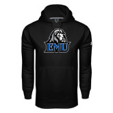 Under Armour Black Performance Sweats Team Hoodie-EMU w/ Lion Head