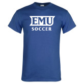 Royal T Shirt-EMU Soccer
