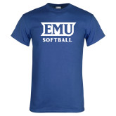 Royal T Shirt-EMU Softball