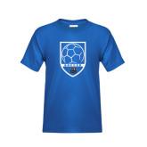 Youth Royal T Shirt-Soccer Shield