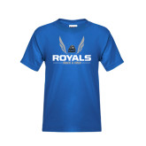 Youth Royal T Shirt-Royals Track & Field w/ Wings