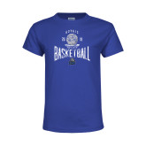 Youth Royal T Shirt-Basketball Design