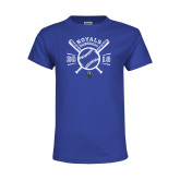Youth Royal T Shirt-Baseball Design
