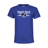 Youth Royal T Shirt-Track & Field Design