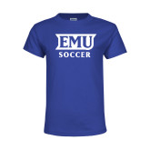 Youth Royal T Shirt-EMU Soccer