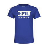 Youth Royal T Shirt-EMU Softball